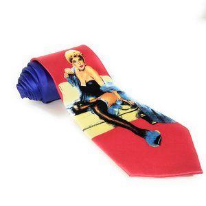 Robin Ruth Men Necktie Pin Up Style Girl Tie
